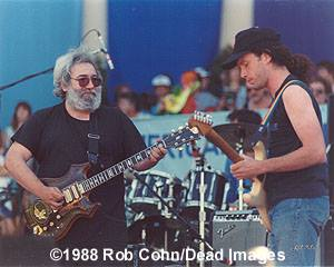 Dead Images - Audio and Videos: Jerry Garcia and Steve Kimock - Zero Live at Golden Gate Park on July 16, 1988