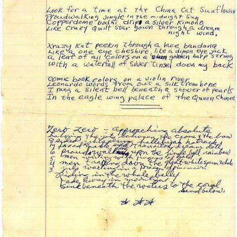 china cat sunflower lyrics image courtesy of hunterarchive