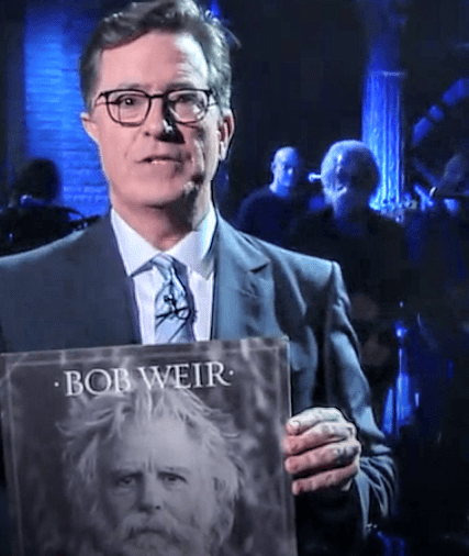 """Bob Weir performs """"Lay My Lily Down"""" on Late Night with Stephen Colbert"""