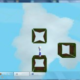Early level design using the old model and similar low-quality assets.
