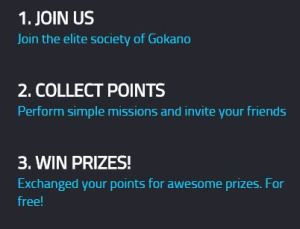 gokano perform missions and get cool prizes