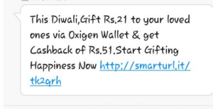 oxigen wallet send Rs 21 and get Rs 51
