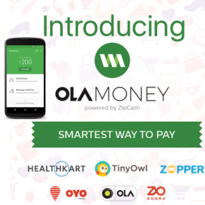 Ola Money- Add Rs 400 to wallet and get Rs 100 extra free (Account Specific)