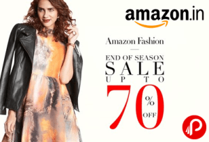 Amazon- Buy Clothing, Footwear and Accessories Products at upto 70% Off + Extra Rs 500 off