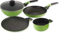 (Back) Amazon- Buy Wonderchef Click Amaze Induction Base Cookware Set (4-Pieces, Green) at just Rs 2005 only