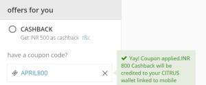 ixigo get Rs 800 flat cashback on flight bookings