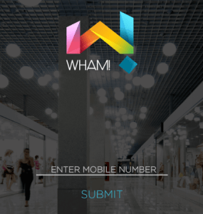 wham app register a new account enter mobile number