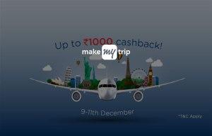 makemytrip flight booking Rs 1000 cashback