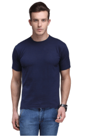 Snapdeal - Buy Scott International Navy Cotton Poly Viscose Regular Fit T Shirt at Rs 99 only