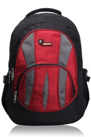 Amazon - Buy F Gear Polyester 30 Liters Black & Red Adios School Backpack at Rs 647 only