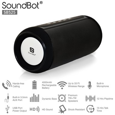 Amazon - Buy SoundBot SB525 Bluetooth 4.0 Wireless Speaker for Rs.3990(56% off)