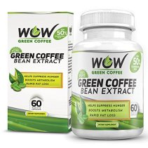 Amazon - Buy Wow Green Coffee Weight Management Supplement with 800 mg GCA - 60 Capsules (Pack of 1) for Rs.999 (67% off)