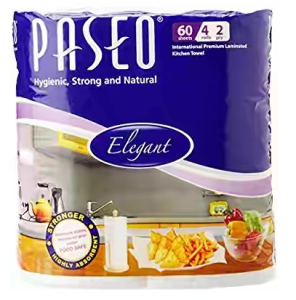 Paseo Tissues Plain Kitchen Towels - 4 Rolls