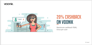 Voonik - Get 20% cashback upto Rs 200 on paying with Freecharge Wallet