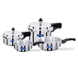 Snapdeal - Buy Surya Accent ISI mark Pressure Cooker ( 2 litre + 4 Litre) and Pressure Pan Set ( 1 litre+ 3 Litre ) at Rs 1209 only