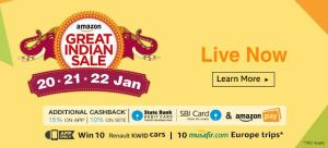 amazon great indian sale 20-22 jan dealnloot live now