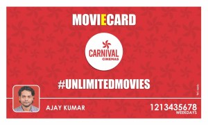 carnivalcinemas unlimited movies Rs 499 for 1 month