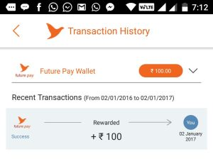 futurepay get Rs 100 on signup free proof