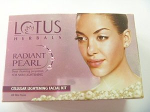 Amazon - Buy Lotus Herbals Radiant Pearl Cellular Lightening Facial Kit Mini Kit - 37g at Rs 360 only