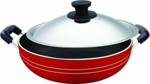 Amazon - Buy Pigeon Induction Base Non-Stick Kadai-200 IB with LidDia 200mm at Rs 509 only