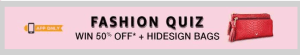 Fashion Quiz Win 50% Off + Hidesign Bags
