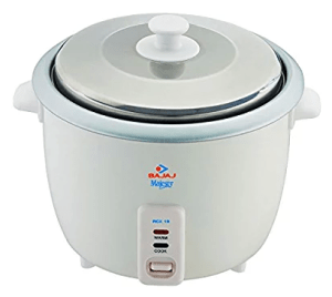 Bajaj Majesty RCX-18 550-Watt Rice Cooker (White)