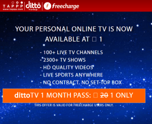 Ditto Freecharge offer