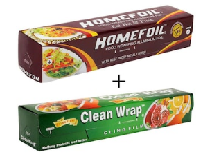 Flat 50% Cashback on Aluminium Foil & Cling Films