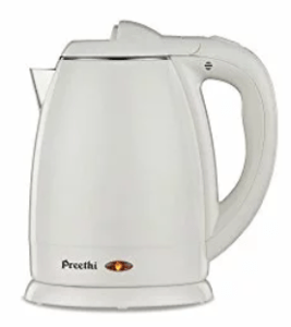Preethi Snow White EK709 1.2-Litre Electric Kettle (Light White )