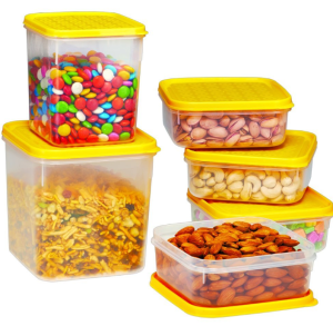 Ruchi Storewel Container Set, 6-Pieces, Yellow