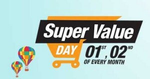 amazon super value day get upto Rs 1200 back on your grocery shopping