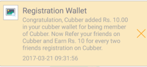 cubber app Rs 10 credit for free