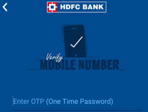 hdfc perks app verify your mobile number