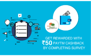 indiaspeaks fill survey and get Rs 50 paytm cash for free