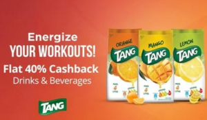tang products beverages summer 40 cashback paytm