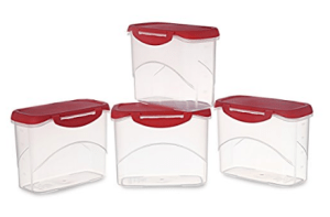 All Time Plastics Delite Container Set, 1 Litre, Set of 4, Red at Rs.142