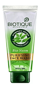 Biotique Bio Neem Purifying Face Wash for Oily Acne Prone Skin, 150ml