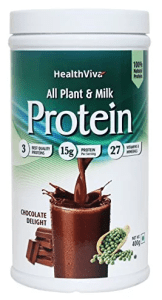 HealthViva Plant & Milk Protein with 27 Vitamins and Minerals, Natural, PDCASS=1.0 (Chocolate)- 400g