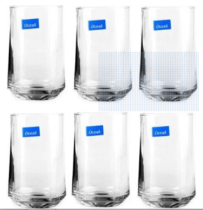 Ocean Patio Glass Set  (290 ml, Clear, Pack of 6) for Rs.199