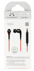 SoundMagic ES11S Wired Headset With Mic (Red)