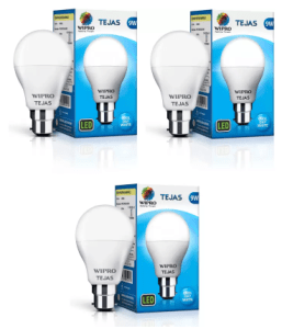 Wipro Tejas 9 W Standard B22 LED Bulb (White, Pack of 3) at Rs.199 only