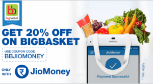 bigbasket jiomoney offer