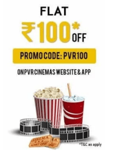 pvr rs.100 off on pvr cinemas website and app