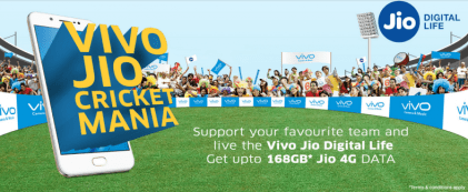 Vivo Jio offer of 160 GB data