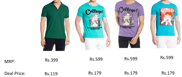 Amazon – Flat 70% off on selected Men's Shirts