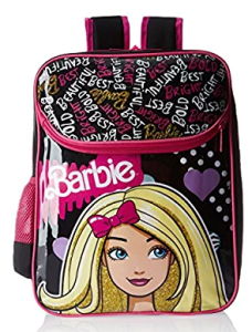 Barbie Pink and Black Children's Backpack (MBE - MAT039)
