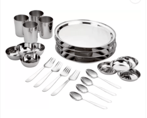 Bhalaria Pack of 24 Dinner Set (Stainless Steel) at rs.255