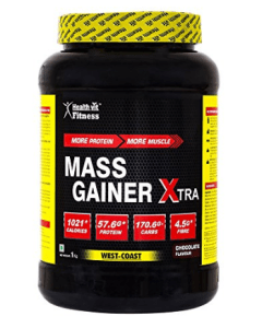 Healthvit Fitness Mass Gainer Xtra Chocolate Flavour 1kg 2.2 lbs at rs.649