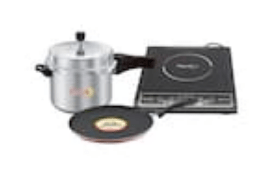 Rapido Premium Induction Cooktop with Induction Base Tawa & 3 Ltr Induction Base Cooker