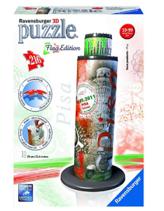 Ravensburger 3D Puzzles Pisa Tower Flag Edition, Multi Color (216 Pieces) at rs.625